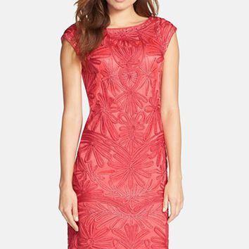 Women's Sue Wong Embroidered Shift Dress,