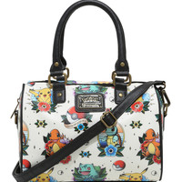 Loungefly Pokémon Tattoo Starters Barrel Bag