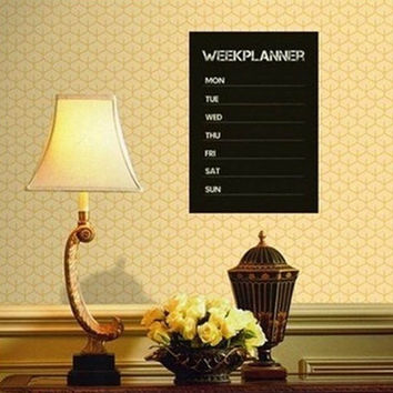 Weekly Planner Calendar Memo Chalkboard Blackboard Vinyl Wall Sticker Decals = 1705916292
