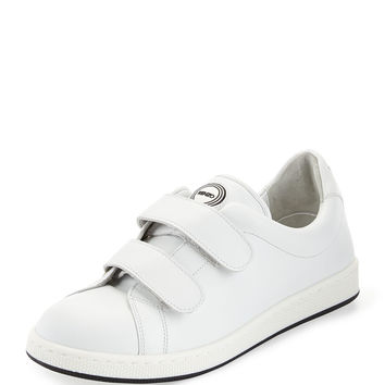 Leather Low-Top Sneaker, White (Blanc) - Kenzo