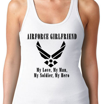 Airforce Girlfriend Exercise Tank Regular Back Multi Colors Available Womens T-Shirt