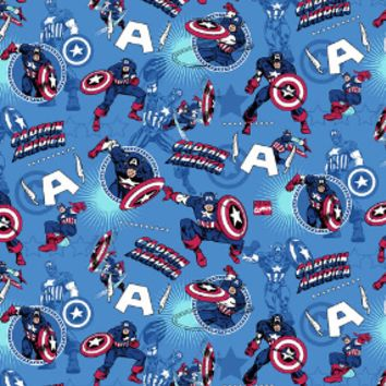 Marvel Comics Captain America Scrub Top