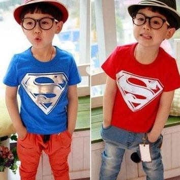 PEAPIX3 Children t-shirt Kids Clothing Tees Cool Superman Baby Boys girls T Shirts For Summer Children Outwear Baby T-shirt = 1946842180