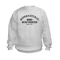 SUPERNATURAL Team Winchester gray Sweatshirt by TeamWinchester