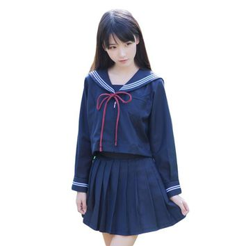 Navy Sailor Uniform Lolita Anime Costumes Suits Japanese School Uniform