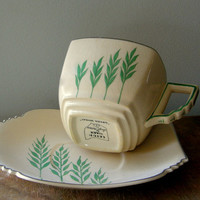 Leigh Ware Ultra Green Wheat Art Deco by SusabellaBrownstein