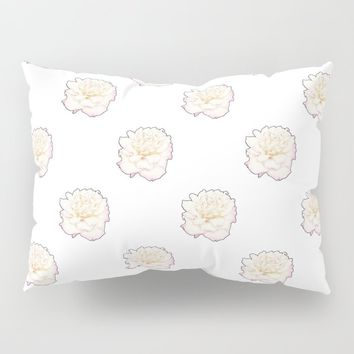 Pale Rose Pillow Sham by drawingsbylam