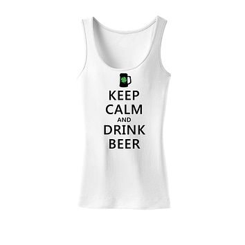 Keep Calm and Drink Beer Womens Tank Top