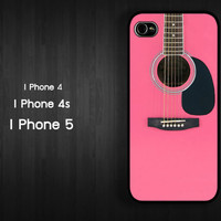 Case iPhone 4 Case iPhone 4s Case iPhone 5 Case Guitar Case girl case idea case puppy case music case