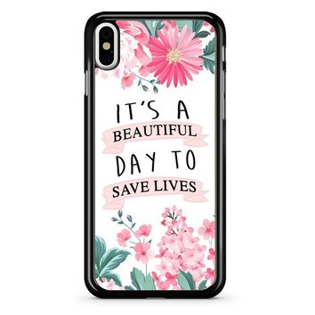 Grey Anatomy Quotes iPhone X Case
