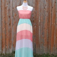 Colorblock Striped Maxi Dress from JuicyDealz