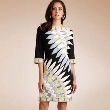 Fashion and high-end digital printing the peacock cultivate one's morality dress
