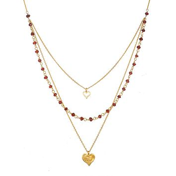Bewitched by Love Faux Triple Necklace