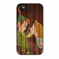 Wendy Kiss Peterpan Wood iPhone 4 Case