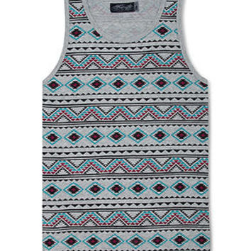 Retrofit T-Shirt, Tribal Print Tank Top - T-Shirts - Men - Macy's