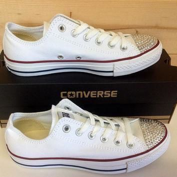 swarovski crystal converse chuck taylor shoes super cute handmade great gift or item f
