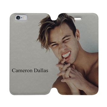 CAMERON DALLAS STYLE Wallet Case for iPhone 4/4S 5/5S/SE 5C 6/6S Plus Samsung Galaxy S4 S5 S6 Edge Note 3 4 5