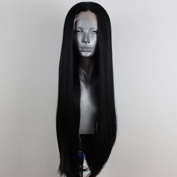 Amy- Pure Black Lacefront Wig