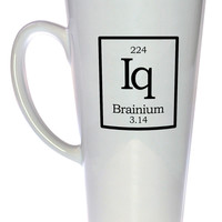 Element Iq - Branium Fake Periodic Table Chemistry Elements Coffee or Tea Mug, Latte Size