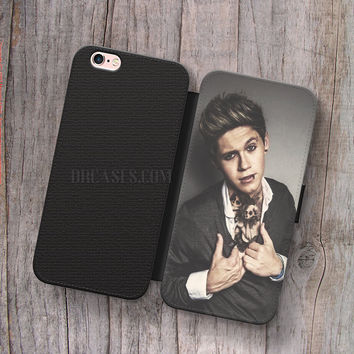 Wallet Leather Case for iPhone 4s 5s 5C SE 6S Plus Case, Samsung S3 S4 S5 S6 S7 Edge Note 3 4 5 Punk Niall Horan Cases