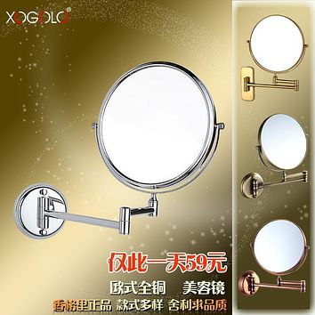 Xogolo beauty mirror wall bathroom makeup mirror double faced vanity mirror retractable folding mirror