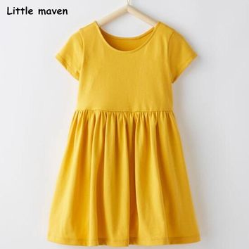 Mustard Yellow solid color short sleeve dresses A2012