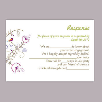 DIY Wedding RSVP Template Editable Text Word File Download Rsvp Template Printable RSVP Cards Colorful Rsvp Card Template Elegant Rsvp Card