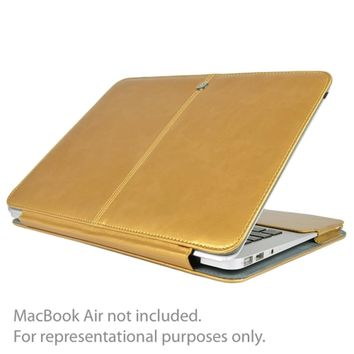 SlickBlue Leatherette Clip-On Case for 13 MacBook Pro (Champagne Gold)