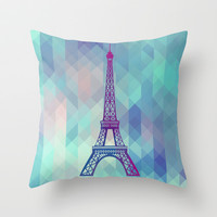 Paris Throw Pillow by Marta Olga Klara | Society6