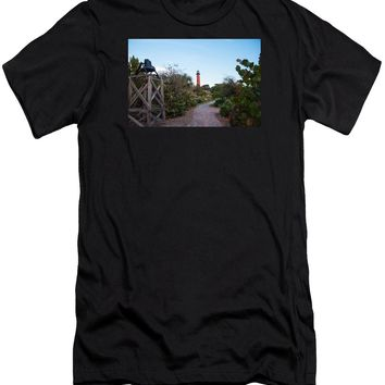 Path To Jupiter Lighthouse - Men's T-Shirt (Athletic Fit)