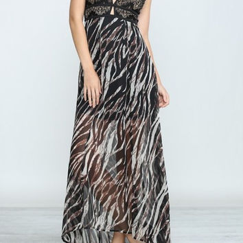 Eliza Bella for Flying Tomato Beach Babe Maxi Dress with Lace Detail SML
