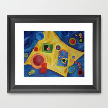 SPACE Abstract Expressionism Acrylic Painting Framed Art Print by Heaven7