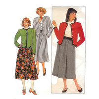 "Misses Jacket and Skirt Butterick 3347 Sewing Pattern, Circa 1980 Uncut Size 8, 10, 12 bust 31 1/2"", 32 1/2"", 34"""