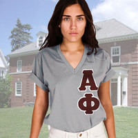 American Apparel Sorority Vertical V-Neck w/ Twill | Sorority clothing and apparel from SomethingGreek.com