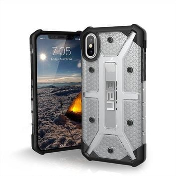 CREYRQ5 UAG iPhone X Plasma Feather-Light Rugged [ICE] Military Drop Tested iPhone Case