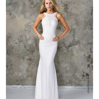 Nina Canacci 5084 Pearl White Sexy Sequin Long Dress 2016 Prom Dresses