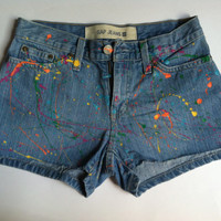 Gap Jeans Splatter Paint Shorts