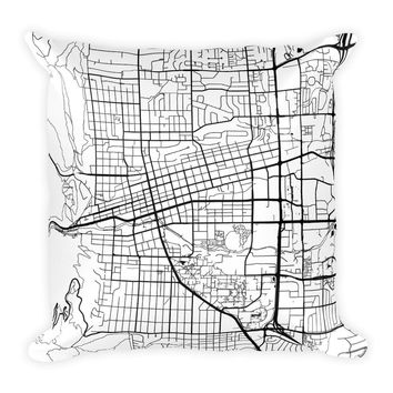Boulder Map Throw Pillow