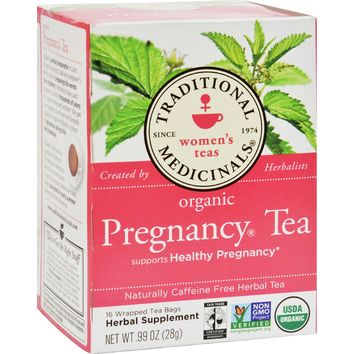 Traditional Medicinals Organic Pregnancy Herbal Tea - 16 Tea Bags - Pack of 6