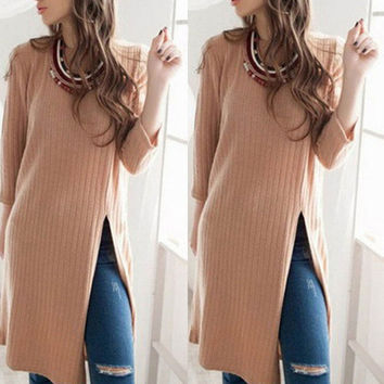 2016 Autumn Winter Fashion Women Long Sleeve Elegant Bodycon Vestidos Short Sweater Knit Dress Sexy Vestidos Sweater Dresses