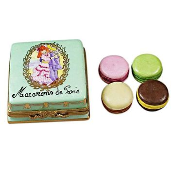 French Macarons de Paris Dessert Limoges Boxes
