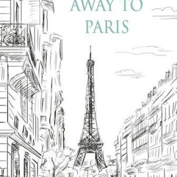 EIFFEL TOWER - LETS RUN AWAY TO PARIS VINYL BACKDROP - 6x8 - LCCRSLC0117 - LAST CALL