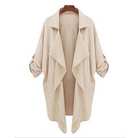 Asymmetrical Trench Coat - LIMITED Stock