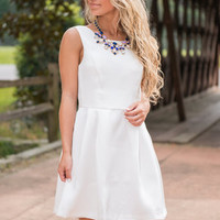The Audrey Dress, White