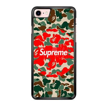 Supreme Bape Jungle Camo iPhone 7 Case
