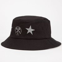 Civil All Star Mens Bucket Hat Black One Size For Men 24715810001