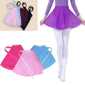 Fashion New 2016 Girl Girls Kids Child Children Ballet Tutu Dance Chiffon Skirt Skirts Hot Girl Tutus Skate Wrap Dancewear saia