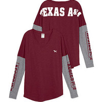 Texas A&M Long Sleeve V-neck Tee - PINK - Victoria's Secret