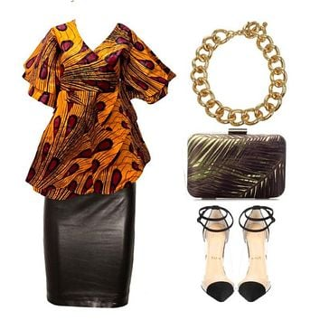 Soca African Wrap Blouse