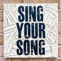 Antique Sheet Music Quote Art Sing Your Song by Stoic on Etsy